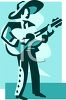 Mexican Guitar Player clipart