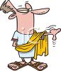 Cartoon of Caesar clipart