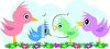 Colorful Chicks clipart