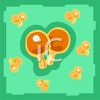 Ping Pong Paddle Icon clipart