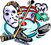 Ice Hockey Equipment clipart