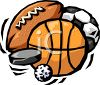 Variety of Sports Balls clipart