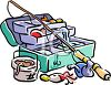 Fishing Equipment Tackle Box clipart