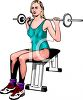 Woman Lifting Weights for Fitness clipart