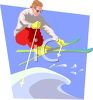 Snow Skier Catching Air clipart
