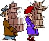 Couple Carrying Holiday Packages clipart