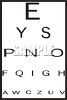 Vision Test Eye Chart clipart