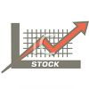 Stock Graph in an Up Trend clipart
