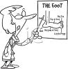 FemalePodiatrist Pointing to a Foot Chart clipart