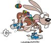 Running Easter Bunny clipart