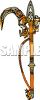 Elaborate Gold Sword clipart