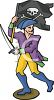 Pirate Figurine clipart