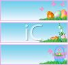 Easter Eggs Background clipart