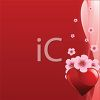 Valentine Background Cherry Blossoms and Hearts clipart