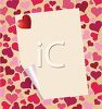 Blank Page on a Heart Background clipart