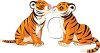 Kissing Tigers clipart