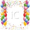 Happy Birthday Background with Balloons and Streamers clipart