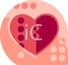 Heart for Valentine's Day Icon clipart