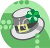 Leprechaun Hat St Patrick's Day Icon clipart