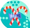 Christmas Candy Canes Icon clipart