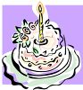 One Year Old Birthday Cake clipart