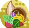 Cornucopia Thanksgiving Icon clipart