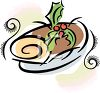 Yule Log Cake for Christmas clipart