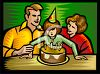 Parents with Their Daughter on Her Birthday clipart