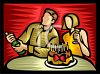 Couple Celebrating Their Anniversary clipart