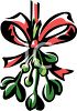 Mistletoe Tied with Ribbon clipart