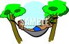 Retired Man Sleeping in a Hammock clipart