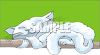 White Kitty Napping clipart