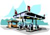 Full Service Gas Station clipart