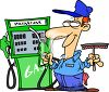 Cartoon Gas Station Attendant clipart