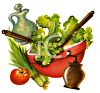 Fresh Salad with Vinegar and Oil and Ground Pepper clipart