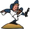 Cartoon of a Baseball Pitcher clipart