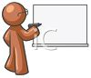Teacher Character Writing on a Dry Erase Board clipart