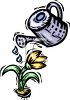 Watering a Spring Flower clipart