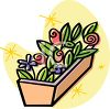 Flowerbox with Roses and Tulips clipart