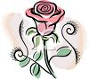 Delicate Pink Rose Design clipart