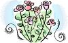 Delicate Pink Rose Bush clipart