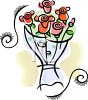 Simple Bouquet of Roses clipart