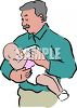 Grandpa Feeding His Grandchild clipart