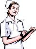 Nurse Holding a Clipboard with a Patient Chart on It clipart