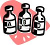 Bottles of Insulin Icon clipart