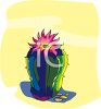 A Flowering Cactus  clipart