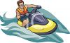A Man Riding A Jet Ski clipart