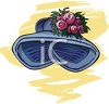 A Sun Bonnet With Flowers On It clipart