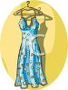 A Womans Polka Dot Sundress clipart