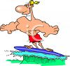 A Man Surfing clipart